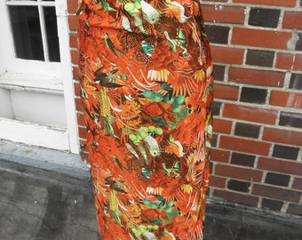 Vintage 1970s Birds of Prey Galore One of a Kind Handmade Skirt XS/S