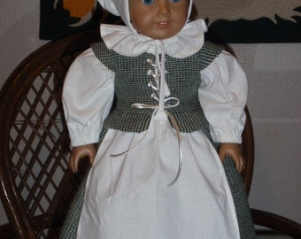 1700s Early Colonial Wool Pilgrim Outfit for American Girl 18 inch dolls