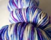 Hand-dyed Wool Yarn in Sanja - Hand-Painted - OOAK - Aran Bulky Chunky Worsted Weight - 180 yards