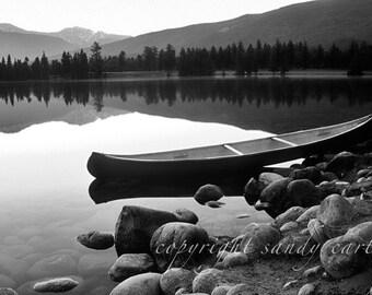 Canoe on Quiet Lake - A Fine Art Photograph