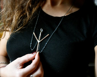 Your Custom Large Futhark Viking Rune Silver Necklace