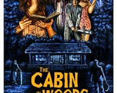 """The Cabin in the Woods Throwback Poster Print 11"""" x 17"""""""