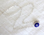 Evil Eye Necklace - Murano Glass and Sterling Silver -- BLUE