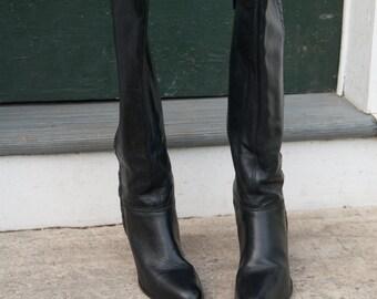 black heel boots 7.5