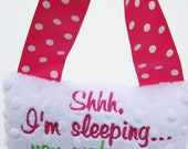 READY TO SHIP, baby door pillow, shower gift, welcome baby gift, on sale