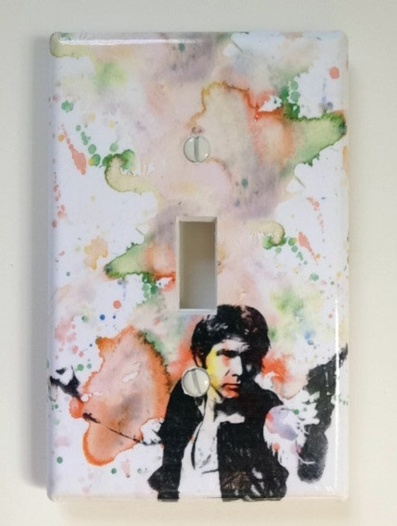 Han Solo Star Wars Art Room Decor Decorative Light Switch Cover Great Star Wars Decoration