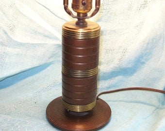 Mid-Century Bronze Ring Lamp Modern Design