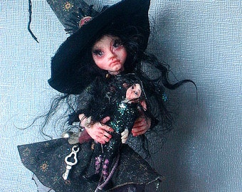OOAK  Fantasy Witch Art  Doll  Made To Order  Custom  Commission