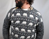 Vintage 80s Sheep Sweater - Handmade in New Zealand