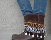 Rugged Savannah- Tribal Boot cuffs