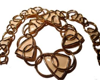 Cream Enamel Modernist Necklace. 1970s. Kunio Matsumoto for Trifari.