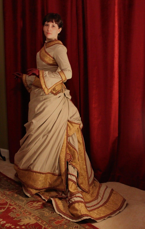 1870s Victorian Bustle Gown Victorian Bustle Gowns