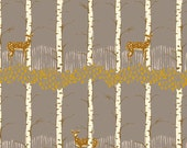 Fawn in Birch Grey from Timber and Leaf by Sarah Watts - Half Yard