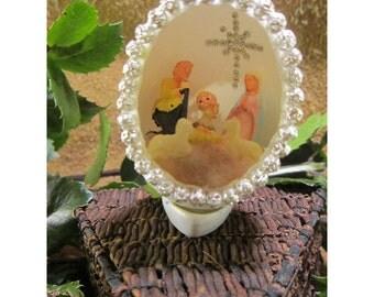 Miniature Christmas Nativity Handmade Christmas Diorama Egg Decoration