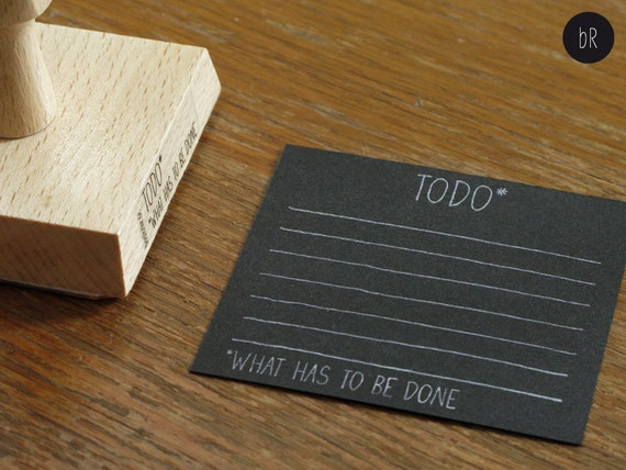 "stamp ""TODO what has to be done"" a handlettered todo list by bastisRIKE"