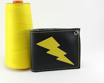 Lightning Bolt Wallet - Black and Yellow Black and Yellow Black and Yellow Black and Yellow