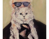 Karl Lagerfeld and Choupette: Note Card Set