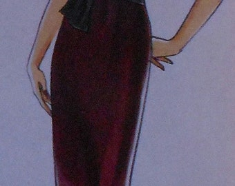 Sleeveless Back Slit Dress Sewing Pattern Very Easy Vogue V8278 UNCUT Sizes 6-12