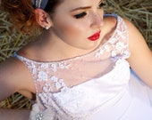 BRIDGETTE -2 inch Horsehair with Crystals and Pearls Headband