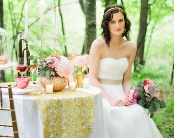 Orchid Inspired Organza Wedding Dress
