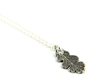 Two for One Sale....Sterling Silver Leaf Necklace