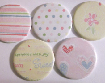Sweet Pastels Pocket/Handbag Mirror x 5
