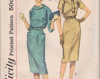 Vintage Wiggle Dress Simplicity Pattern 3070