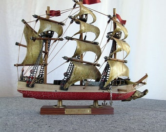 Ship Model Sea Witch 1950s Whaling Clipper Pirate Tallship Sailboat