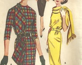 Butterick 9894 Vintage 60s Sewing Pattern // Scarf And Dress Size 14 Bust 34