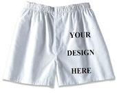 Mens Boxer Shorts - Custom Print - White