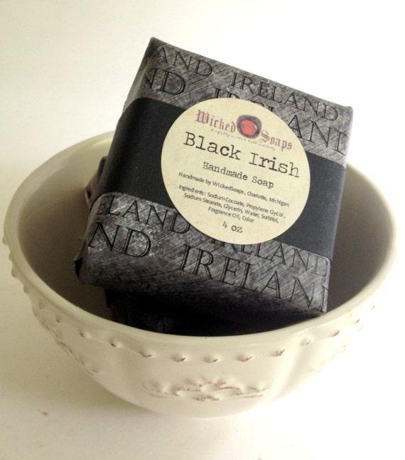 Black Irish Natural Soap Bar Mens Soap by WickedSoaps