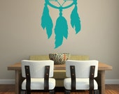 Dream Catcher Wall Decal, Southwestern Wall Decor, Native American Decor, Feathers Wall Decal, Modern Nursery Decor, Southwestern Dorm Decor
