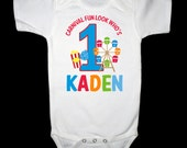 Personalized Carnival Fun Birthday Shirt or Bodysuit - Personalized with ANY name and age