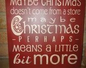 CHRISTMAS Sign/Christmas Decor/ThE GrINcH/Wood Sign/Home Decor/PriMiTiVe /WooD SiGn/Ornament/Decoration/Rustic/Country/Red/12 x 12