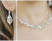 Crystal Bridal Jewelry SET. Swarovski Wedding Jewelry SET, Clear Crystal Jewelry SET