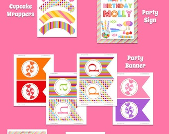 Candy Birthday Party Pack - Printable