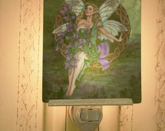 Heather Fairy Porcelain Tile Night Light