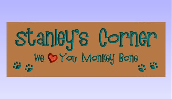 Custom Sign for Stanley Mocha and Turquoise