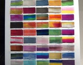 "Hand Dyed Silk Ribbon Earth Silk 1/2"" wide 3 yard cutting blended colors 0-70"