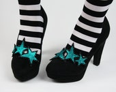 Glitter Stars Double Shoe Clips- Black FRiday Cyber Monday