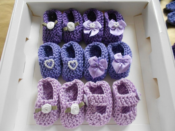 best seller girl baby shower decorations 4 pairs hand knit mini
