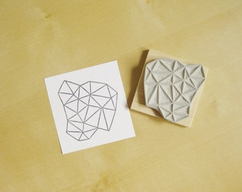 Crystal Configuration 40 - Hand Carved Stamp