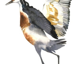"Limited Edition GICLEE Print /  ""The Elegant One"" /  Watercolor Painting of Sandhill Crane"