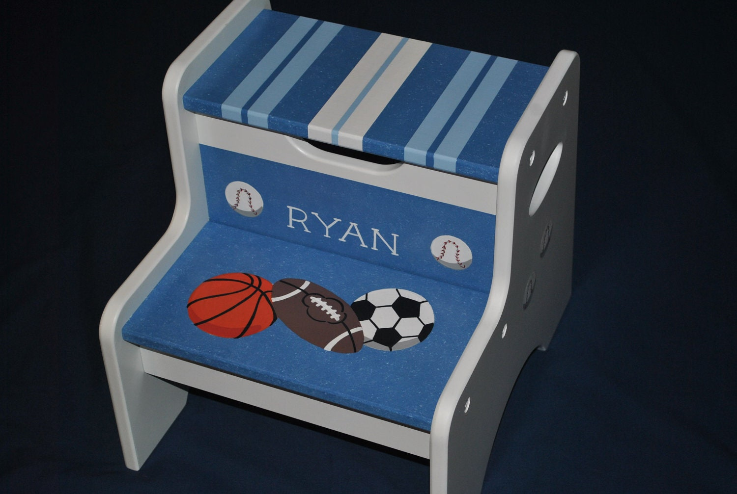 Kids Personalized 2 Step Stool Sports By Onmyown14 On Etsy