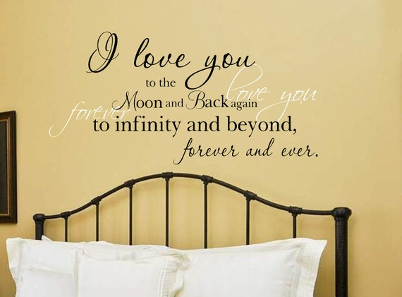 I Love You To The Moon And Back Vinyl Wall Decal - Wall decals love
