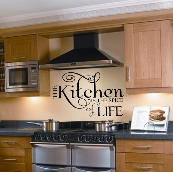 Items similar to kitchen is the spice of life vinyl wall for Kitchen cabinets quotation