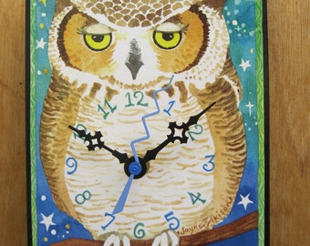 Wise Old Owl Clock