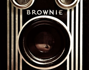 Fine Art Photograph - Square Wall Art -Vintage Camera - Brownie Target
