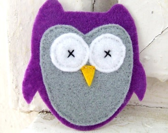 Felt applique - Felt owl - Felt animal - Felt bird - Fabric applique