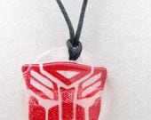 Red Autobot adjustible cord necklace